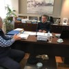 İlhan AHMET, Gümülcine Belediye Başkanı Yorgos Petridis ve Demokratik İttifak Rodop İli Sekreteri Yannis Garanis ile görüştü